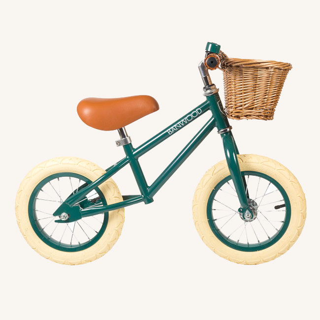 Banwood, draisienne, vélo enfant, first go, draisienne vintage, draisienne vert foncé banwood